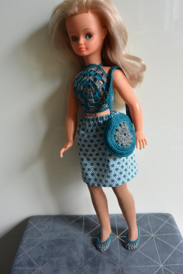 jupe haut sac ballerines crochet cathy cathie bella